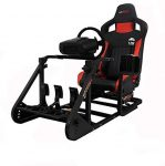 GT Omega ART Racing Simulator Cockpit RS6 Gaming Console Seat for Logitech